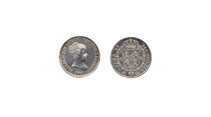 ISABEL II. 1 Real 1847 Madrid CL