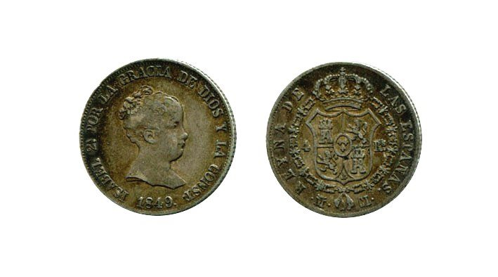 ISABEL II. 4 Reales 1849 Madrid CL