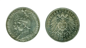 ALEMANIA 5 Marcos 1901 A Guillermo II Prusia