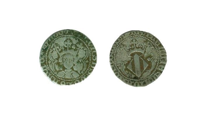 VALENCIA. ALFONSO III (V DE ARAGON) 1/2 Real 1416-1458